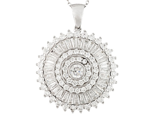 Photo of Bella Luce ® 8.00ctw Rhodium Over Sterling Silver Pendant With 18 Inch Chain (4.57ctw Dew)