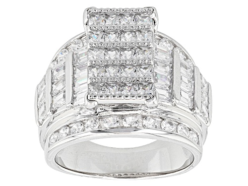 Photo of Bella Luce ® 5.44ctw Rhodium Over Sterling Silver Ring (3.80ctw Dew) - Size 12