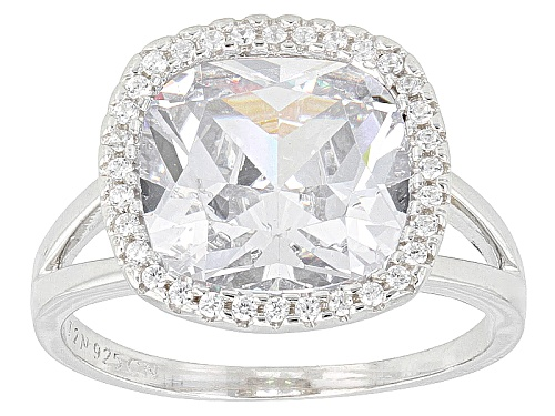 Photo of Bella Luce ® 11.30ctw Rhodium Over Sterling Silver Ring (7.00ctw Dew) - Size 11