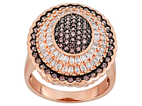 Photo of Bella Luce ® 2.66ctw Mocha And White Diamond Simulants Eterno ™ Rose Ring - Size 7