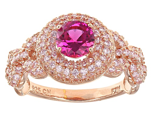 Photo of Bella Luce ® 2.64ctw Pink Sapphire And Pink Diamond Simulants Eterno ™ Rose Ring - Size 10