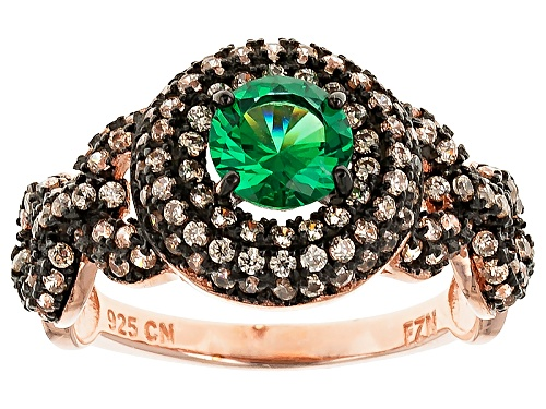 Photo of Bella Luce ® 2.64ctw Emerald And Champagne Diamond Simulants Eterno ™Rose Ring - Size 10