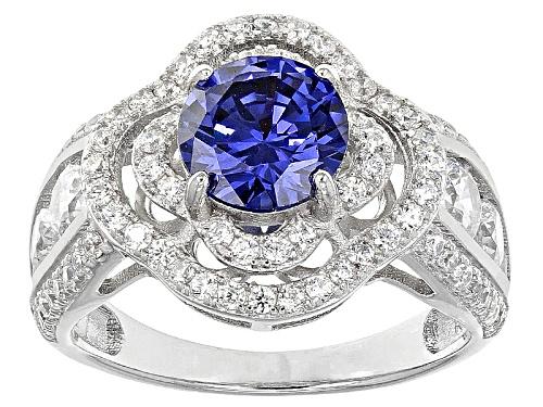 Photo of Bella Luce ®Esotica ™  4.90ctw Tanzanite And White Diamond Simulants Rhodium Over Silver Ring - Size 11