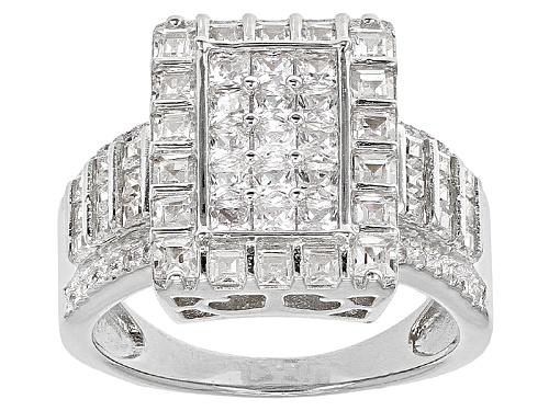 Photo of Bella Luce ® 3.57ctw Rhodium Over Sterling Silver Ring (2.19ctw Dew) - Size 10