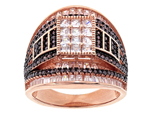 Photo of Bella Luce ® 4.15ctw Mocha And White Diamond Simulants Eterno ™ Rose Ring (2.51ctw Dew) - Size 6