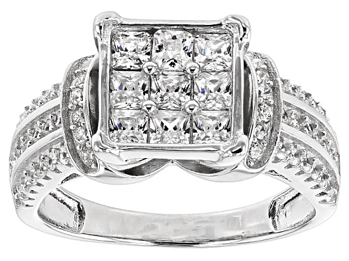 Photo of Bella Luce ® 2.10ctw Rhodium Over Sterling Silver Ring (1.26ctw Dew) - Size 11