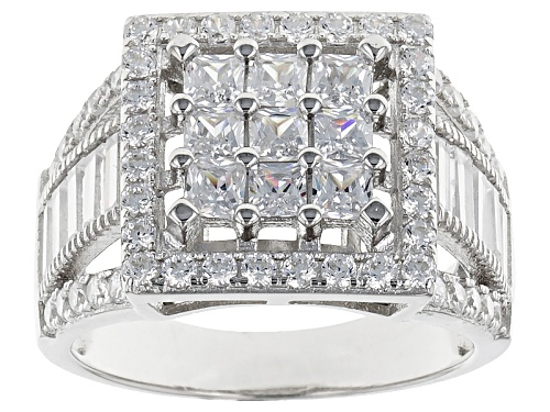 Photo of Bella Luce ® 3.80ctw Rhodium Over Sterling Silver Ring (2.42ctw Dew) - Size 5