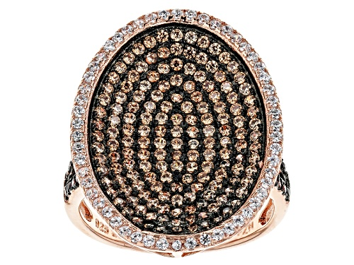 Photo of Bella Luce ® 2.13ctw Mocha, Champagne And White Diamond Simulants Eterno ™ Rose Ring - Size 7