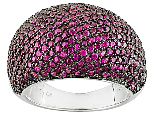 Photo of Bella Luce ® 3.49ctw Ruby Simulant Black And White Rhodium Over Sterling Silver Ring - Size 9