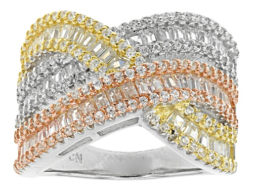 Photo of Bella Luce ®3.44ctw Rhodium Over Sterling Silver And Eterno ™Yellow And Rose Ring (1.96ctw Dew) - Size 5