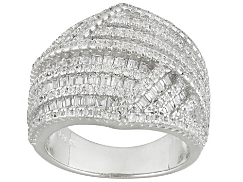 Photo of Bella Luce ® 3.58ctw Rhodium Over Sterling Silver Ring (2.90ctw Dew) - Size 7