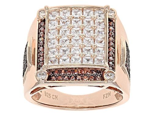 Photo of Bella Luce ® 4.24ctw Mocha And White Diamond Simulants Eterno ™ Rose Ring (2.53ctw Dew) - Size 7