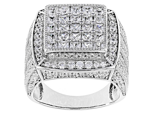 Photo of Bella Luce ® 5.21ctw Rhodium Over Sterling Silver Ring (3.17ctw Dew) - Size 5