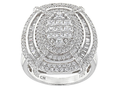 Photo of Bella Luce ® 3.19ctw Rhodium Over Sterling Silver Ring (2.01ctw Dew) - Size 5