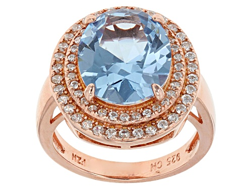 Photo of Bella Luce ® 5.62ctw Blue And White Diamond Simulants Eterno ™ Rose Ring (5.43ctw Dew) - Size 9