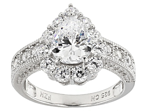 Photo of Bella Luce ® 5.06ctw Rhodium Over Sterling Silver Ring (2.98ctw Dew) - Size 11