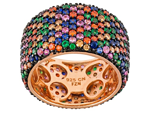 Photo of Bella Luce ® 7.08ctw Multicolor Gemstone Simulants Eterno ™ & Black Rhodium Over Silver Band - Size 6