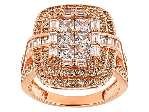 Photo of Bella Luce ® 3.50ctw Champagne And White Diamond Simulants Eterno ™ Rose Ring (2.64ctw Dew) - Size 11