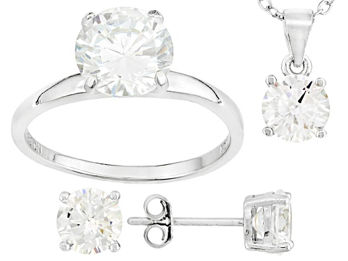 Photo of Bella Luce ® 7.36ctw Rhodium Over Sterling Silver Earrings,Pendant W/ Chain And Ring