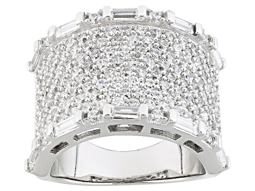 Photo of Bella Luce ® 4.39ctw Rhodium Over Sterling Silver Ring (2.92ctw Dew) - Size 5