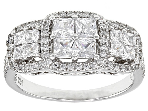 Photo of Bella Luce ® 2.58ctw Rhodium Over Sterling Silver Ring (1.57ctw Dew) - Size 11
