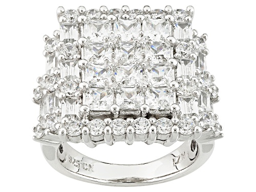 Photo of Bella Luce ® 7.28ctw Rhodium Over Sterling Silver Ring (4.66ctw Dew) - Size 5