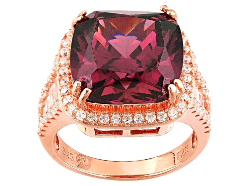 Photo of Bella Luce ® 12.25ctw Rhodolite Garnet And White Diamond Simulants Eterno ™ Rose Ring - Size 10
