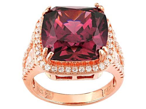 Photo of Bella Luce ® 12.25ctw Rhodolite Garnet And White Diamond Simulants Eterno ™ Rose Ring - Size 5