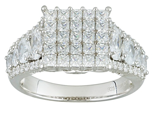 Photo of Bella Luce ® 7.76ctw Rhodium Over Sterling Silver Ring (2.75ctw Dew) - Size 10