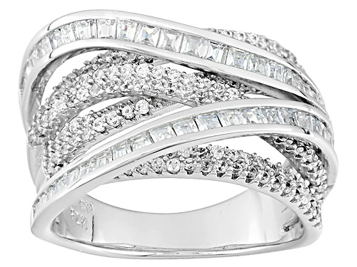 Photo of Bella Luce ® 3.81ctw Rhodium Over Sterling Silver Ring (1.90ctw Dew) - Size 5