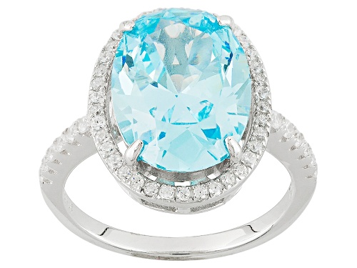 Photo of Bella Luce ® 9.95ctw Neon Apatite And White Diamond Simulants Rhodium Over Sterling Silver Ring - Size 11