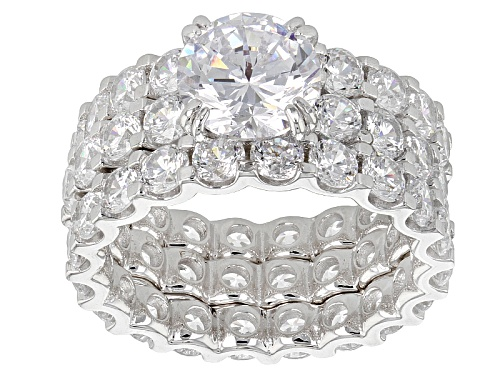 Photo of Bella Luce ® 13.21ctw Rhodium Over Sterling Silver Ring With Bands (8.42ctw Dew) - Size 8