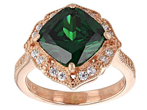 Photo of Bella Luce ® 6.73ctw Emerald And White Diamond Simulants Eterno ™ Rose Ring - Size 8