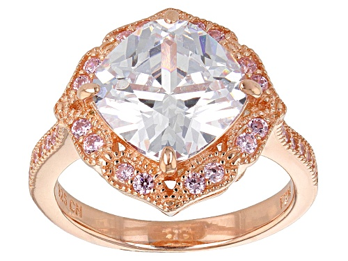 Photo of Bella Luce ® 6.73ctw Pink And White Diamond Simulants Eterno ™ Rose Ring (4.19ctw Dew) - Size 10