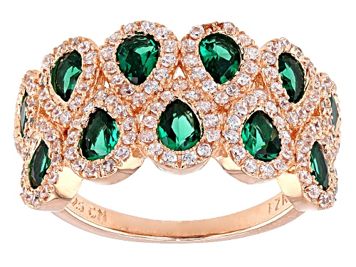 Photo of Bella Luce ® 2.74ctw Emerald And White Diamond Simulants Eterno ™ Rose Ring - Size 11