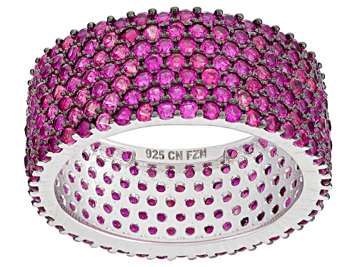 Photo of Bella Luce ® 3.61ctw Pink Sapphire Simulant Black And White Rhodium Over Sterling Silver Ring - Size 6