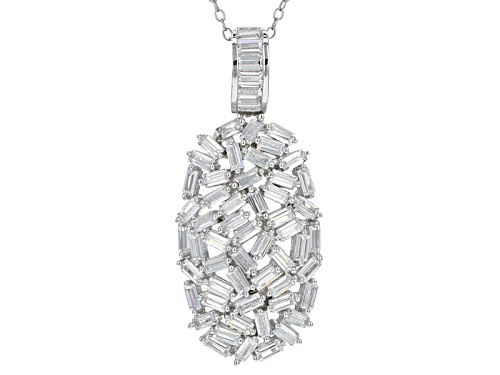 Photo of Bella Luce ® 5.82ctw Rhodium Over Sterling Slver Pendant With Chain (3.60ctw Dew)
