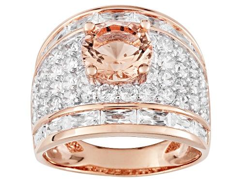 Photo of Bella Luce ® Esotica ™ 9.76ctw Morganite Simulant & Diamond Simulant Eterno ™ Rose Ring - Size 5