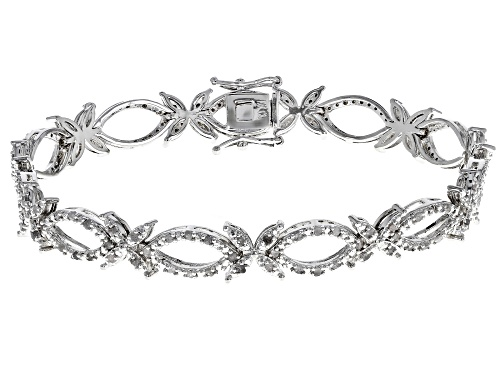 Photo of Emulous™ .64ctw Round White Diamond Rhodium Over Brass Bracelet - Size 7.25