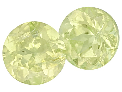 Photo of Brazilian Chrysoberyl Matched Pair Of Average .35ctw 4mm Round