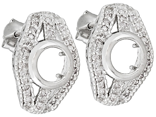 Photo of Gemgroove Sentiments™ S/S 6mm Rd W/.30ctw White Diamond Semi Mount Earrings