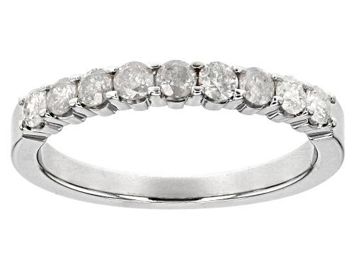 Photo of .50ctw Round White Diamond 10k White Gold Ring - Size 5