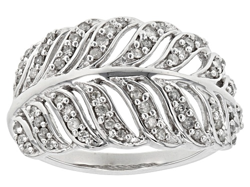 Photo of .40ctw Round White Diamond 10k White Gold Ring - Size 5