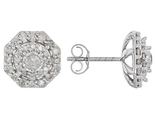 Photo of .75ctw Round White Diamond 10k White Gold Earrings