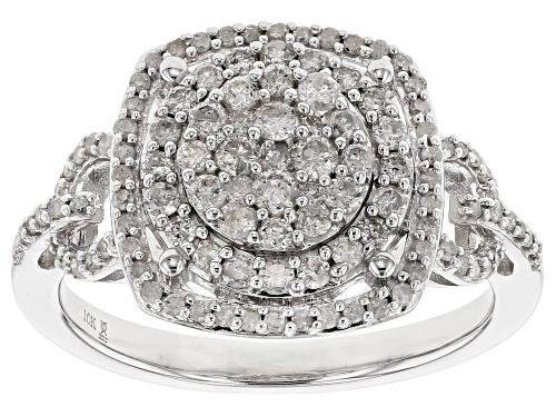 Photo of .75ctw Round White Diamond 10k White Gold Ring - Size 5