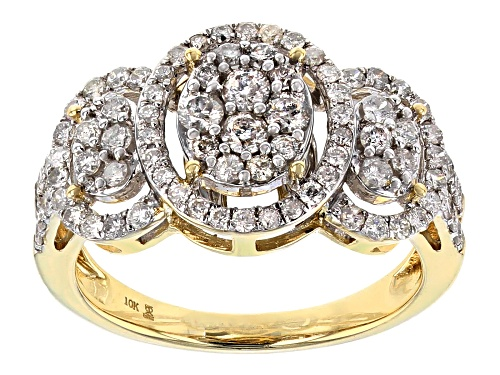 Photo of 1.00ctw Round White Diamond 10k Yellow Gold Ring - Size 7