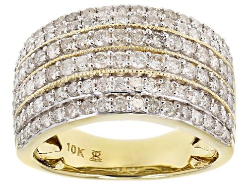 Photo of 1.50ctw Round White Diamond 10k Yellow Gold Ring - Size 9