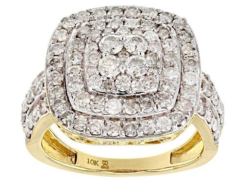 Photo of 2.00ctw Round White Diamond 10k Yellow Gold Ring - Size 6