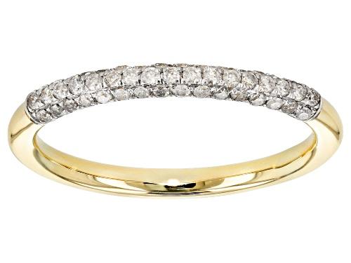 Photo of .25ctw Round White Diamond 10k Yellow Gold Ring - Size 6