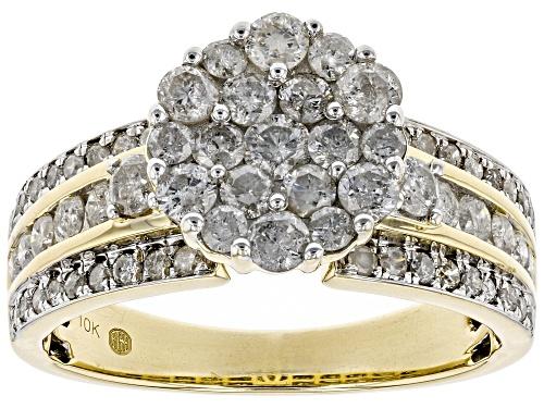 Photo of 1.44ctw Round White Diamond 10K Yellow Gold Ring - Size 7